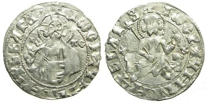 Ancient Coins - BULGARIA.John Stracimar AD 1360-1396.AR.Grosch.