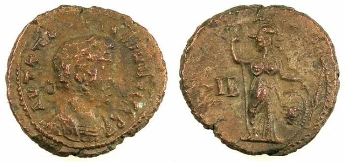 Ancient Coins - EGYPT.ALEXANDRIA.Gallienus AD 253-268.Bi.Tetradrachm..Rev.Athena