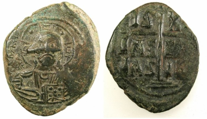 Ancient Coins - BYZANTINE EMPIRE.Anonymous Follis.class B .Mint of Constantinople.