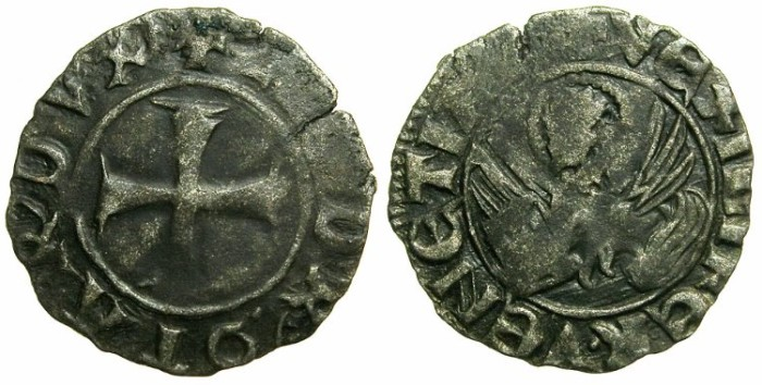 Ancient Coins - CRUSADER.GREECE under VENICE.Andrea Contarini AD 1368-1382.Bi.Tornesello.