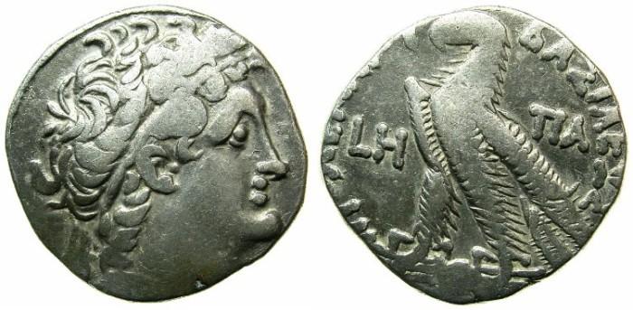 Ancient Coins - EGYPT.ALEXANDRIA.Ptolemy XII Neos Dionysios 80-51 BC.AR.Tetradrachm.Struck 74/73 BC.