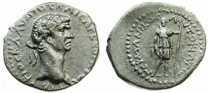 Ancient Coins - LYCIA, Lycian league.Claudius AD 41-54.AR.Denarius.~#~.Artemis standing. ****very rare issue ****