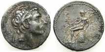 Ancient Coins - SYRIA.SELEUCIDS.Antiochus III 223-187 BC.AR.Tetradrachm.Mint of ECBATANA. *****RARE MINT FOR THIS KING *****