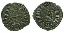 World Coins - CRUSADER.Principality of Achaia.Philip de Tarante AD 1307-1313.Bi.Denier.variety PT1