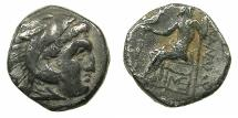 Ancient Coins - MACEDONIAN EMPIRE.Alexander III The Great 336-323.AR.Drachma, posthumus issue circa 310-301 BC.Mint of LAMPSACUS.