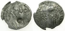 World Coins - SERBIA.Stefan Uros IV Dusan as Emperor AD 1345-1355.AR.Dinar.Bulgarian countermark Dot within circle.
