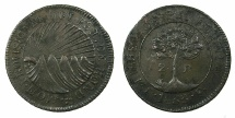 World Coins - HONDURAS.Independent State.Base silver 2 Reales 1833TF.