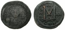 Ancient Coins - BYZANTINE EMPIRE.Justinian I AD 527-565.AE.Follis.struck AD 538/39.Mint of CONSTANTINOPLE. ****THIS YEAR MARKS THE BEGINING OF DATED COINS OF BYZANTIUM***