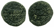 World Coins - ITALY.SICILY.William II AD 1166-1189.AE.Follaro.1st copper coinage struck at MESSINA.