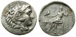 Ancient Coins - EGYPT.Mint of MEMPHIS. Alexander III The Great 336-323 BC.AR.Tetradrachm. ****Rare lifetime issue of Alexander The Great ****