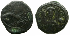 Ancient Coins - BYZANTINE EMPIRE.Manuel I Comnenus AD 1143-1180.AE.Tetarteron. Mint of THESSALONIKI