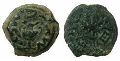 Ancient Coins - JUDAEA.Jewish War AD 66-70.AE.Prutah Year 2 ( AD 67/68 )