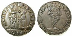 World Coins - ITALY.Venice.Andrea Gritti 1523-1538.AR.Mocenigo. Assayer BB ( Bartolemeo Barbarigo ) Rare in office 3 months
