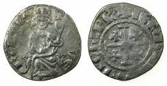 World Coins - CRUSADER STATES.CYPRUS.Hugh IV AD1324-1359.AR.Gros Petit. Mule. Reverse with U in IERUSALEM.***Ex.Lambros collection ***