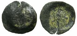 Ancient Coins - BYZANTINE EMPIRE.Alexius I Comnenus AD 1081-1118.Billon.Aspron Trachy.Mint of CONSTANTINOPLE.