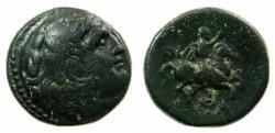 Ancient Coins - MACEDON.Philip III Aarhidaeus c.323-316 BC.AR.AE. Reverse. countermark Caduceus.