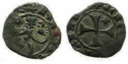 World Coins - CRUSADER STATES.CYPRUS.James I AD 1382-1398.Billon Denier.