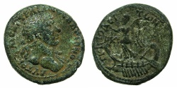 Ancient Coins - PHOENICIA.TRIPOLIS. Hadrian AD 117-138.AE.14.6mm. Struck AD 117~#~.Victory on Galley.