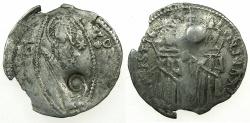 World Coins - SERBIA.Stefan Uros IV Dusan as Emperor AD 1345-1355.AR.Dinar.Bulgarian countermark Dot within circle.