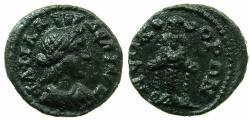Ancient Coins - LYDIA.PHILADELPHIA.Pseudo-Autonomous.3rd cent AD.AE.17mm. ~#~.Cultus statue of Artemis Ephesia.