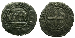 World Coins - ITALY.SAVOY.Amedeo VIII AD as Duke 1416-1440.Quarto de Grossi 2nd Type. ****Amedeo as Felix V was the last Anti-pope****