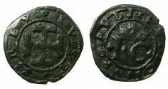 World Coins - NAPLES.Giovanna la Pazza ( The crazy ) and her son Carlo ( later Charles V H.R.E ) AD 1516-1519.AE.Sestino.