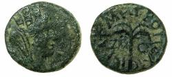 Ancient Coins - PHOENICIA.SIDON.AE.16.8mm.Pseudo-Autonomous issue, struck AD 121/22.