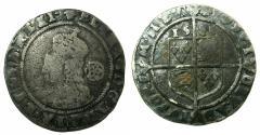 World Coins - ENGLAND.TUDOR.Elizabeth I AD 1558-1603.AR.Sixpense.1584.5th issue.1582-1600.mm.Escallope.