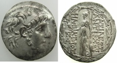 Ancient Coins - SELEUCID EMPIRE.SYRIA.Antiochus IX Cyzicenus 114/3-96/5 BC.AR.Tetradrachm, 1st reign circa 114-circa 112 BC.Mint of ANTIOCH.