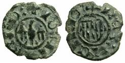 World Coins - ITALY.SICILY.John II AD 1458-1479.Billon Denaro.**** Unpublished legend varient?****