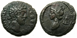 Ancient Coins - EGYPT.ALEXANDRIA.Commodus AD 180-192.Billon Tetradrachma, struck AD 189/90.~#~.Bust of Selene.