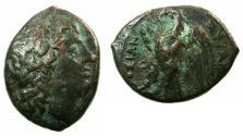 Ancient Coins - SICILY.SYRACUSE.Hiketas II 287-278 BC.AE.