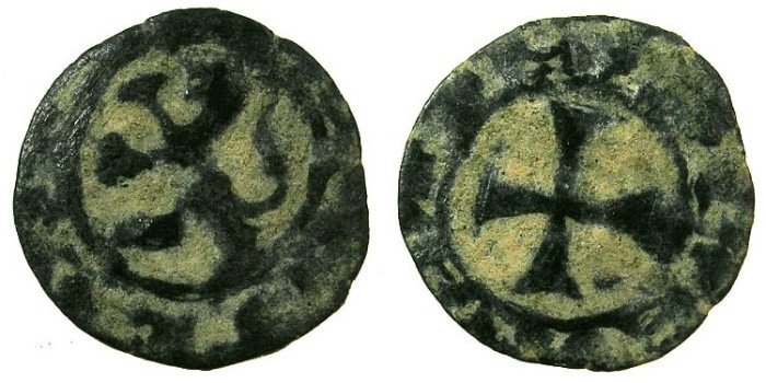 World Coins - CRUSADER STATES.CYPRUS.James I ( AD 1382-1398 ) or Janus ( AD 1398-1432 ).Billon Denier.