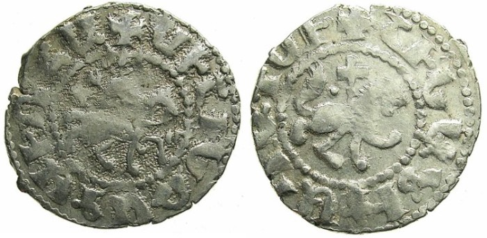 Ancient Coins - ARMENIA.Oshin AD 1308-1320.AR.Takvorin.Mint of Sis.
