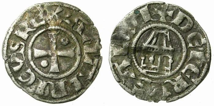 Ancient Coins - CRUSADER.JERUSALEM.Amaury AD 1163-1174.Bi.Denier.Type 9.