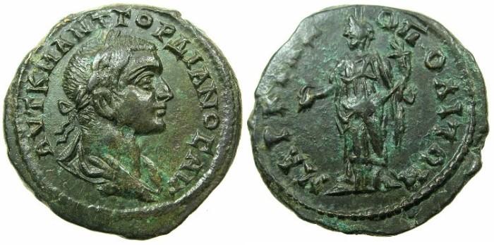 Ancient Coins - MOESIA INFERIOR.MARCIANOPOLIS.Gordian III AD 238-244.AE.26mm.~#~.Homonia.
