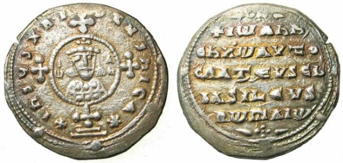Ancient Coins - BYZANTINE EMPIRE.John I Tzimiskes AD 969-976.AR.Milliaresion.Constantinople mint.
