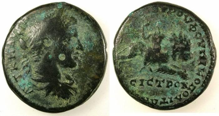 Ancient Coins - MOESIA INFERIOR.Nicopolis ad Istrum.Elagabalus AD 218-222.AE.27.Kybele riding lion