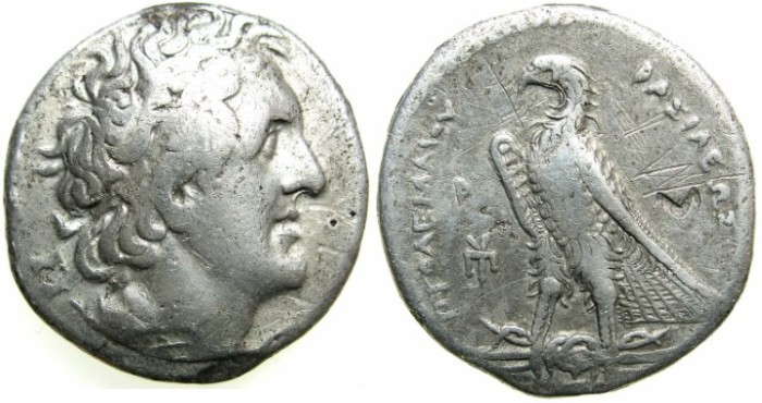 Ancient Coins - PTOLEMAIC EMPIRE.EGYPT.Ptolemy I Soter C.323-283 BC.AR.Tetradrachm.Mint of ALEXANDRIA.struck c.290/89 BC.