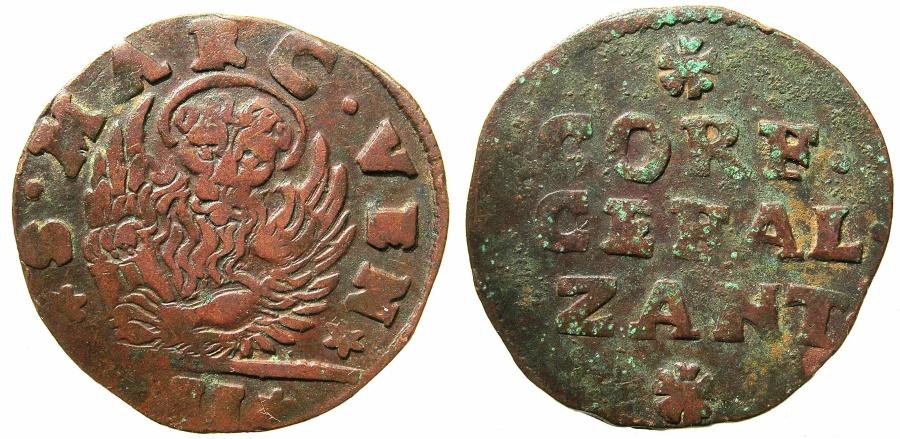 World Coins - VENICE.IONION ISLANDS.Giovanni Corner AD 1709-1722.AE.2 Gazzettas ( circa 1710-21 ).