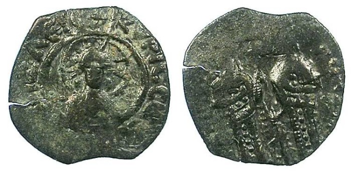 Ancient Coins - BYZANTINE EMPIRE.Andronicus II and Micahel IX AD 1294-1320.AE.Assarion.~~~Nimbate facing bust of Christ.