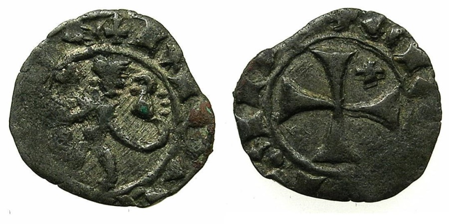 World Coins - CRUSADER STATES.CYPRUS.James I AD 1382-1398.Billon Denier.