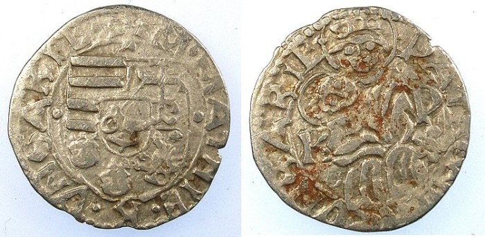 Ancient Coins - HUNGARY.Mattias I Corvinus 1458-1490.AR.Denar.