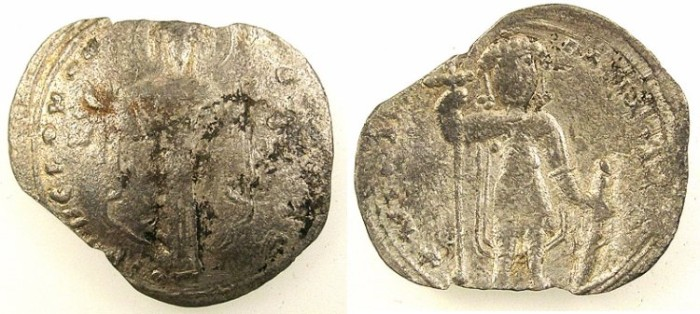 Ancient Coins - BYZANTINE EMPIRE.Michael VII Ducas AD 1071-1078.AR.Milliaresion.Mint of Constantinople.
