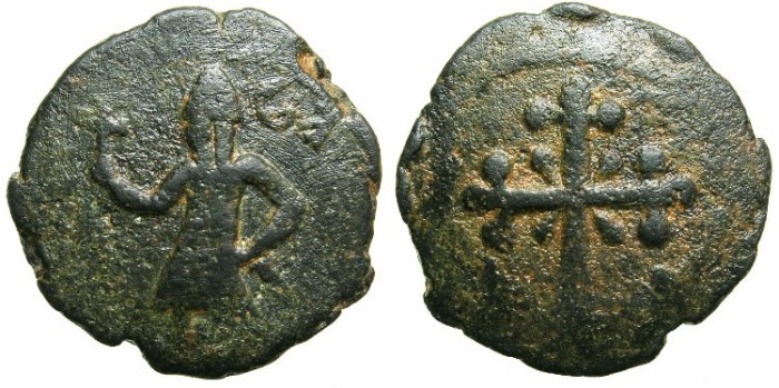 "Ancient Coins - CRUSADER STATES.EDESSA.Baldwin II AD 1108-1118.AE.Follis.""light issue""."