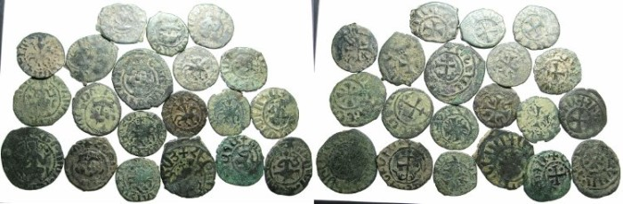 Ancient Coins - CILICIAN ARMENIA.20 Copper coins , uncleaned.