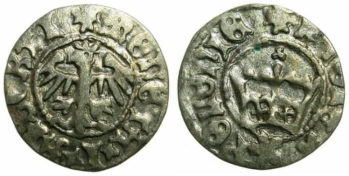 Ancient Coins - POLAND.Jan Olbracht ( Johann Albert ) AD 1492-1501.AR.Half Groshen.N.D.