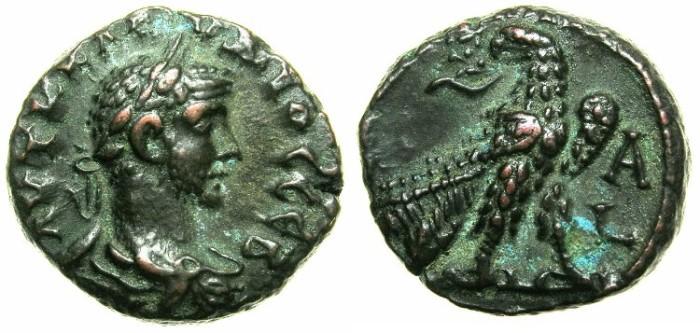 Ancient Coins - EGYPT.ALEXANDRIA.Claudius II Gothicus AD 268-270.Billon Tetradrachm, struck AD 268.~#~.Eagle on thunderbolt.