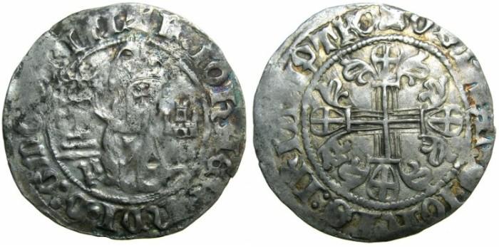 Ancient Coins - CRUSADER STATES.RHODES.Jean Fernandez de Heredia AD 1376-1396.AR.Gigliato.
