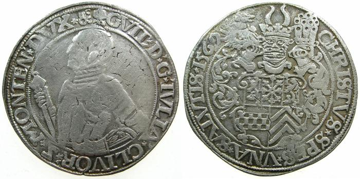 World Coins - GERMANY.Julich-Cleve-Berg.William V The rich 1539-1592.AR.Thaler 1569.